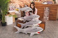 50cm 80cm plush toys shark soft throw pillow cartoon stuffed animal cushion kids toy pillow girlfriend gift
