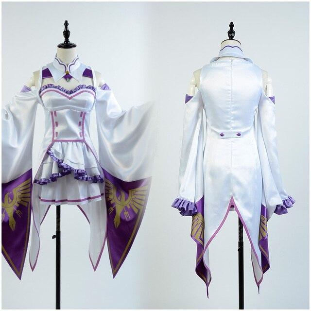1445d769f6 Nowy Re  Zero Isekai kara Hajimeru Seikatsu Emilia Cosplay Kostium Kostiumy  Halloween Kostiumy Dla Dorosłych