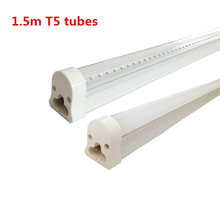 DHL free shipping 25pcs/lot 1.5m 5FT T5 led tubes 22w Fluorescent tube with SMD3014 Super Brightness Led Bulbs AC85-265V