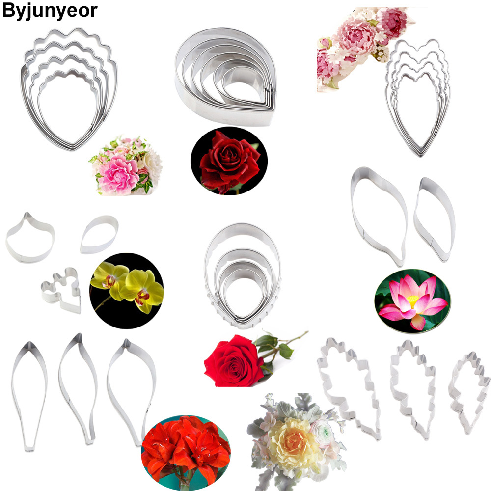 Yongrow 3D Flower Mould,Cutter Decoration Stainless Steel Pastry DIY Clay Mold Fondant Sugarcraft Flower Making