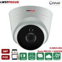LWSTFOCUS Wide Range 2 8mm Lens IP Camera 3MP Network Mini Dome Camera Support FREEIP Remote