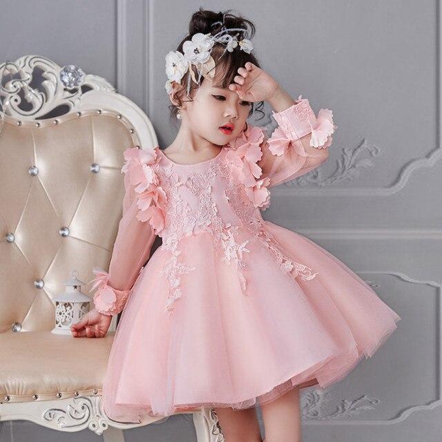 77de1a1a865ba Enfant Princesse Fête Fille D anniversaire De Robe Bébé Mariage fYf1vXa