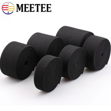 Meetee 9Meter 30/38/50/70mm Thicking Black Elastic Band Garment Luggage Pockets Waist Rubber Bands DIY Clothes Accessories AP611