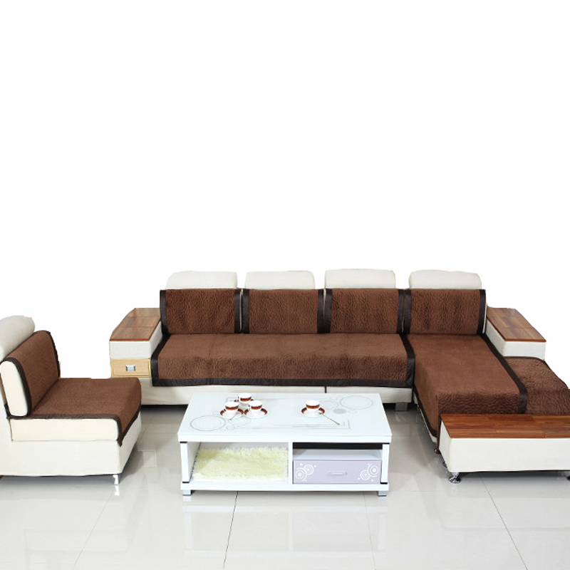 1pc velvet fabric sofa brown decorative sofas covers double sectional modern sofa slipcover 100 2 seater