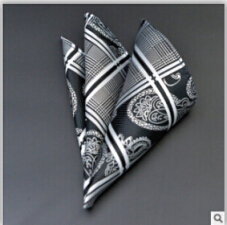 A Plurality Of Models Of High-end Men's Fashion Pocket Square Scarves Accessories Formal Geometric Polyester Towel Handkerchief