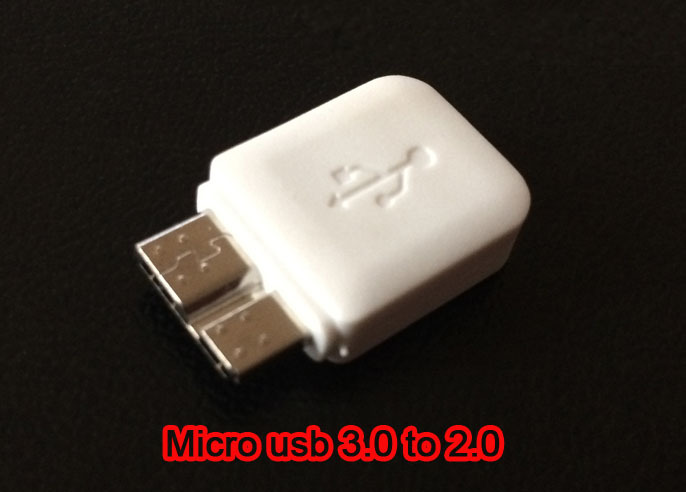 10Pin Micro USB 3 0 to 5Pin Micro USB 2 0 Male to Female Converter Adapter