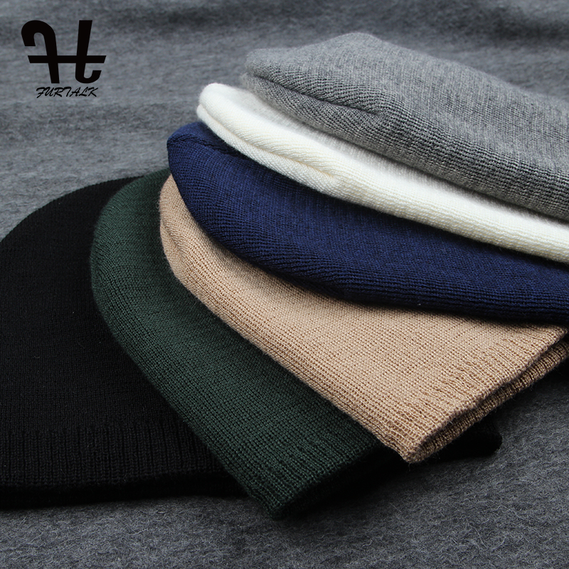 FURTALK Unisex Bahar Sonbahar Şapka İzle Kap Kadın Yün Örgü - Elbise aksesuarları - Fotoğraf 6