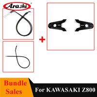 Arashi Bundle Sales Rear Wheel Axle Cover Throttle Line Wire Clutch Cable For KAWASAKI Z800 2013 2015 Motorcycle Z 800 Z 800