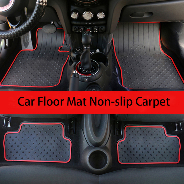 Car Rubber Floor Mat Carpet Cargo Pad Decor For BWM Mini Cooper One d Countryman F54 F55 F56 F60 R55 R56 R60 Car Accessories