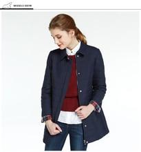 ICEbear Girls Winter Jacket 2018 Shirt Collar Spring Parkas Sweet Cotton Padded Jackets Slim Thin Light
