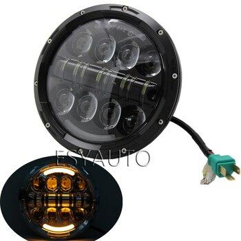 ¡Nuevo! 2 uds. 7 pulgadas Led faro de motocicleta HI/Lo luz de cruce baja Led 7 pulgadas lámpara redonda blanca DRL y señal de giro para Jeep wrangle