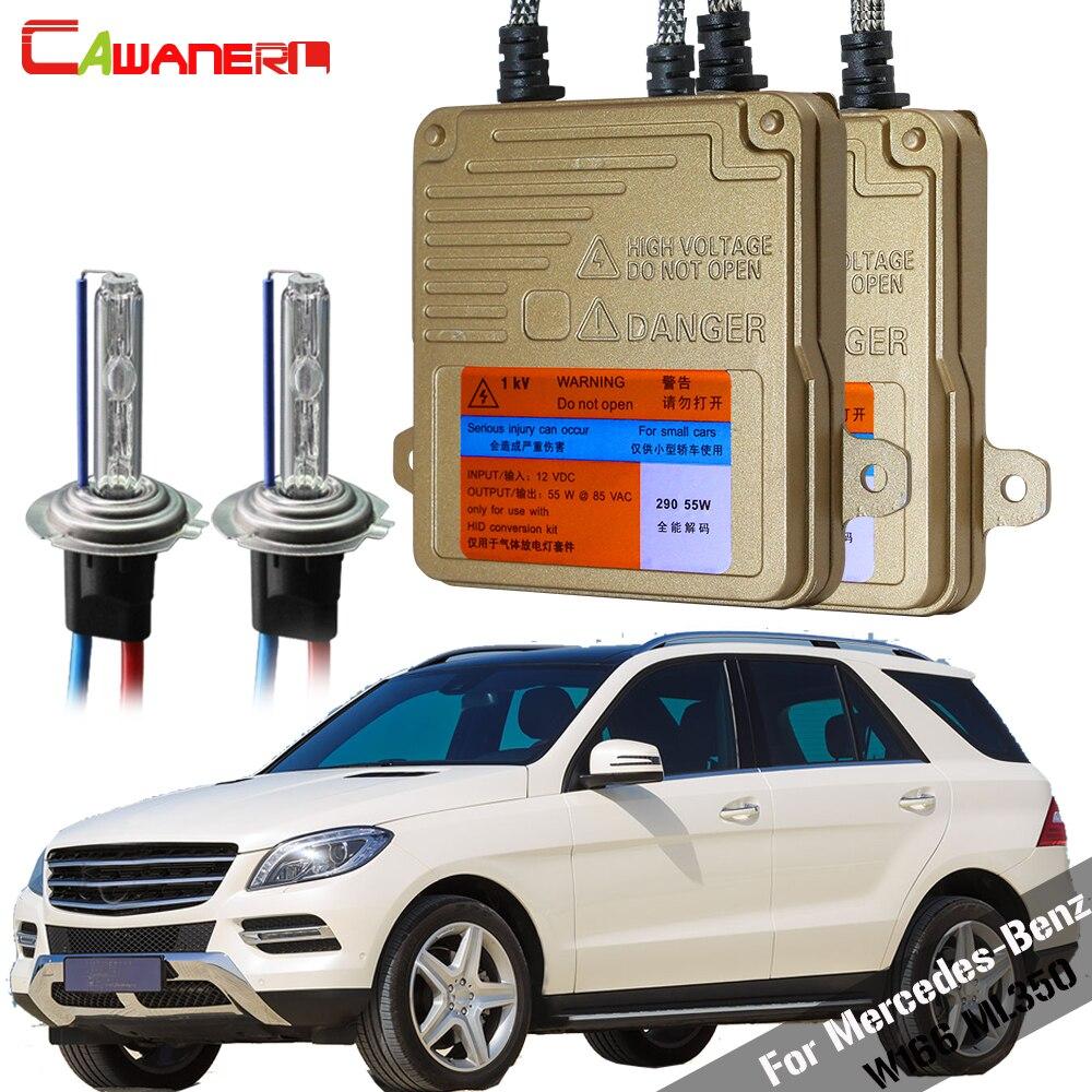 Cawanerl 55W Car HID Xenon Kit No Error Ballast Bulb AC Auto Light Headlight Low Beam