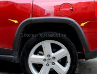 Full Size Fender Flares Wheel Arch Guard Trim For Jeep Compass 2011 2015 10pcs