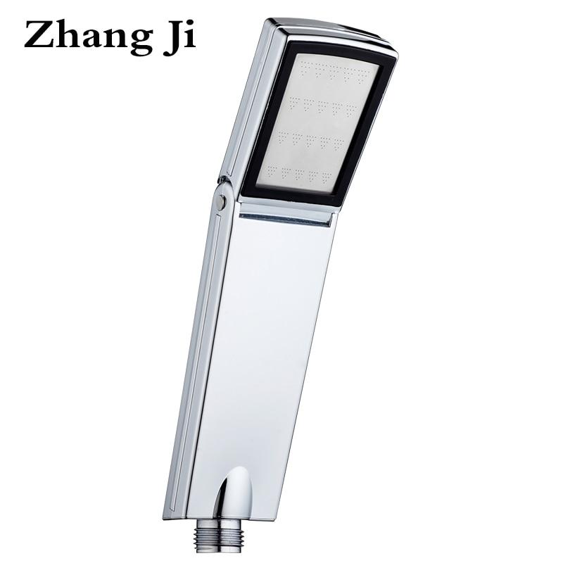 ZhangJi Chrome Plated Folding Square Water Saving Small Handheld Shower head High Pressure Spa Shower Nozzle Ducha Chuveiro 052