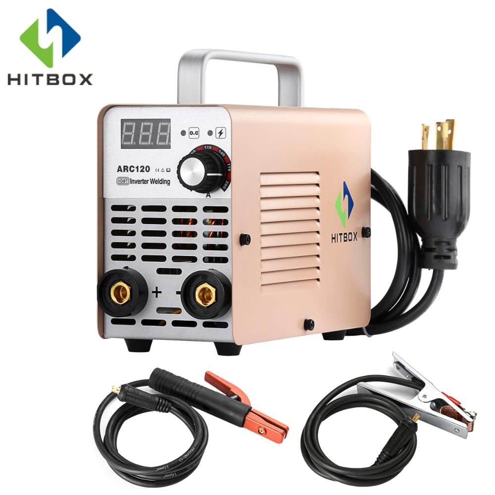HITBOX Inverter Arc Soudeur Mini ARC 220 v Petite Taille Soudeur ARC120 Pour Usage Domestique 120A MMA Machine De Soudage