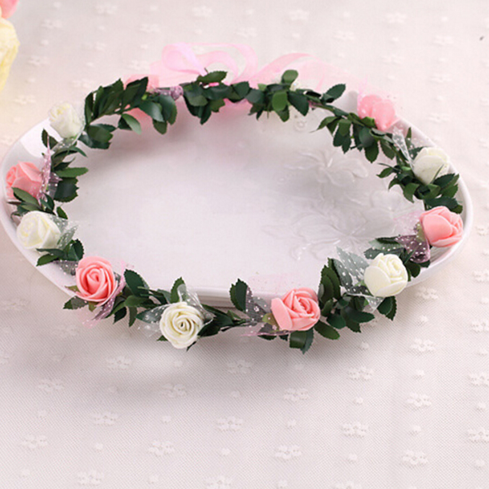 1Pcs Women\'s Bohemian Floral Headbands Flower Party Wedding Hair ...
