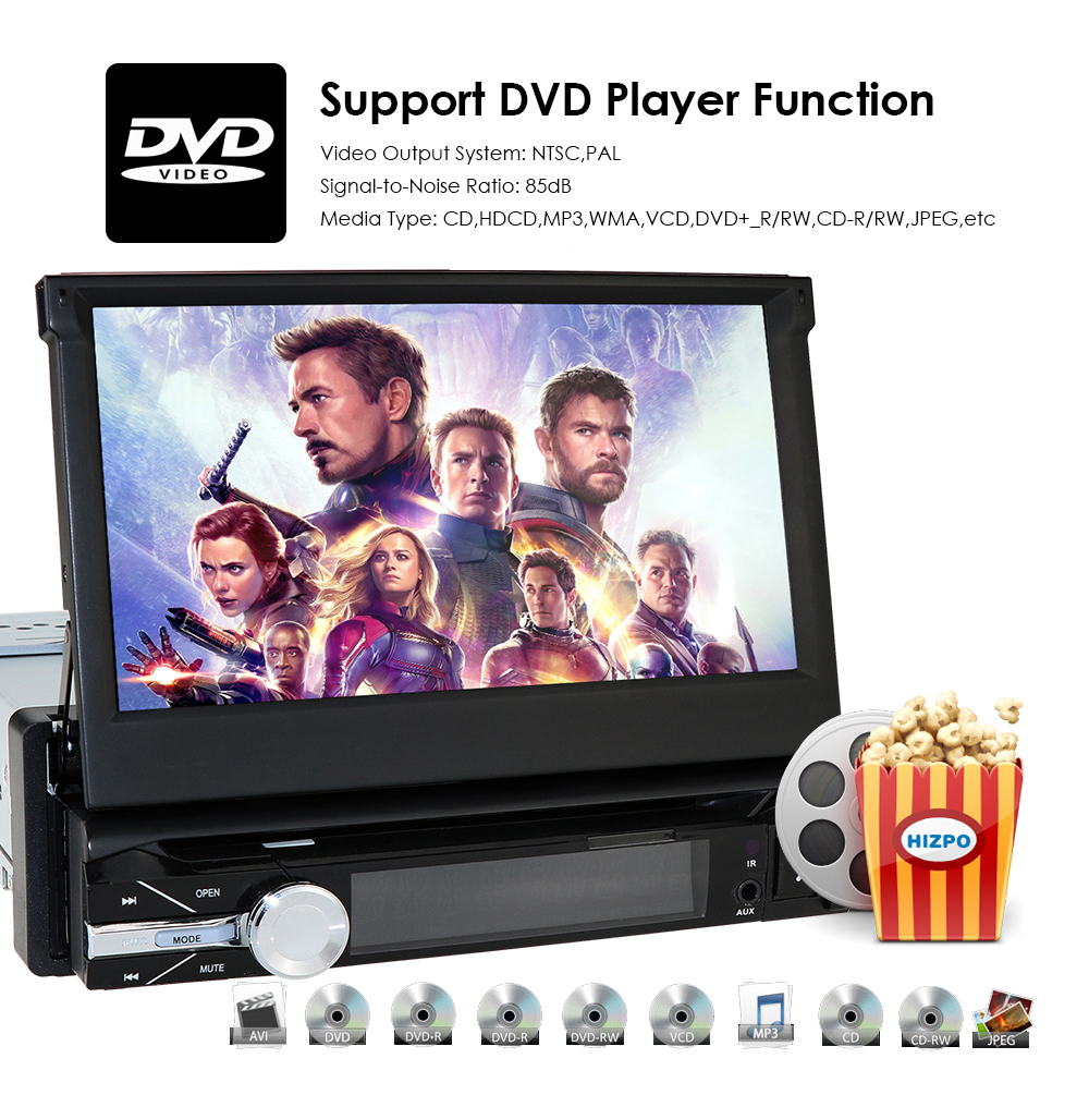 Radio HIZPO 1din GPS Auto 1 Navigation Bluetooth Camera Car Rear DVD SD Music CAM Din View USB for Navi universal player 5