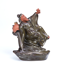 Creative back Li liquor drunk ceramic incense burners, sandalwood towers high mountain and flowing water of the
