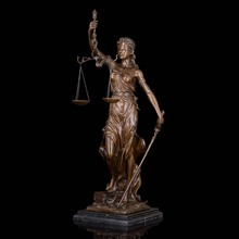 Christmas Promotion sales Big Lady Scales of Justice Lawyer figurine bronze statueCZS-008
