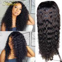Nadula-pelucas con encaje completo minimechones, ondas profundas, sin pegamento, encaje frontal, pelucas de cabello humano brasileño, sin pegamento