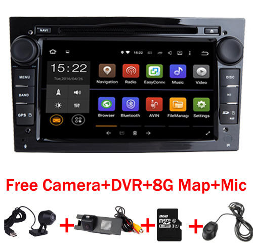 7 HD 1024X600 Touch Screen Android 7 1 Car DVD Player for Opel Astra Vectra Antara