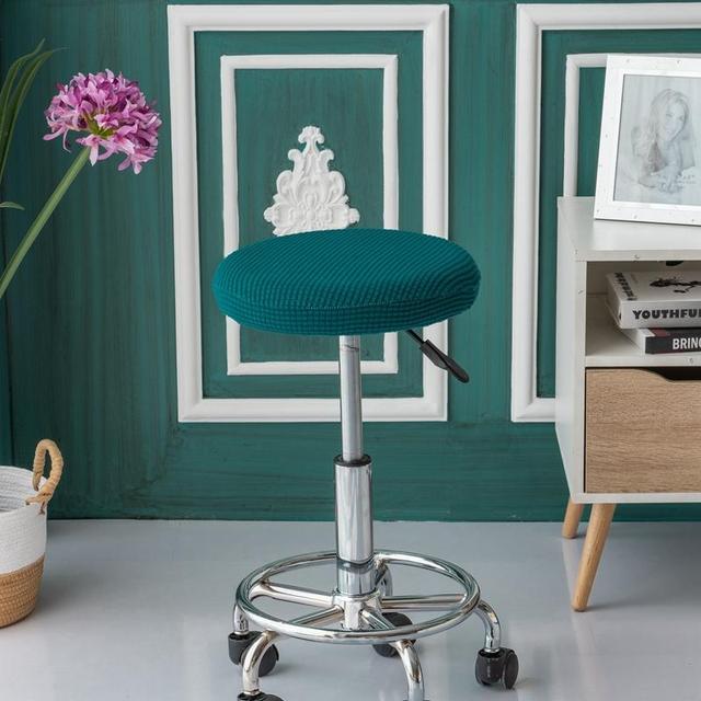 Swivel Chair Covers Chiavari Rental Quality Elastic Spandex Round Cover Office Club Restaurant Living Room Bar Stool Slipcovers Seat Cushions
