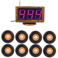 433.92MHz Wireless Waiter Calling System With 1.8