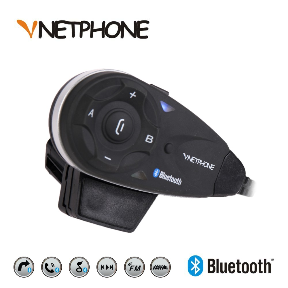 Vnetphone Helmet BT Interphone 5 Rider Motorcycle Bluetooth Intercom Headset FM MP3 GPS Wireless Helmet Speaker Interfono 2016 newest bt s2 1000m motorcycle helmet bluetooth headset interphone intercom waterproof fm radio music headphones gps