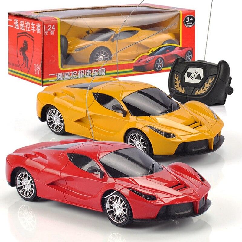 TOYSEA 1:24 Scale 2CH RC Car Model Kids Children Simulation Remote Control Car Toy 1 Pc New RC Car Christmas Gift Random Color