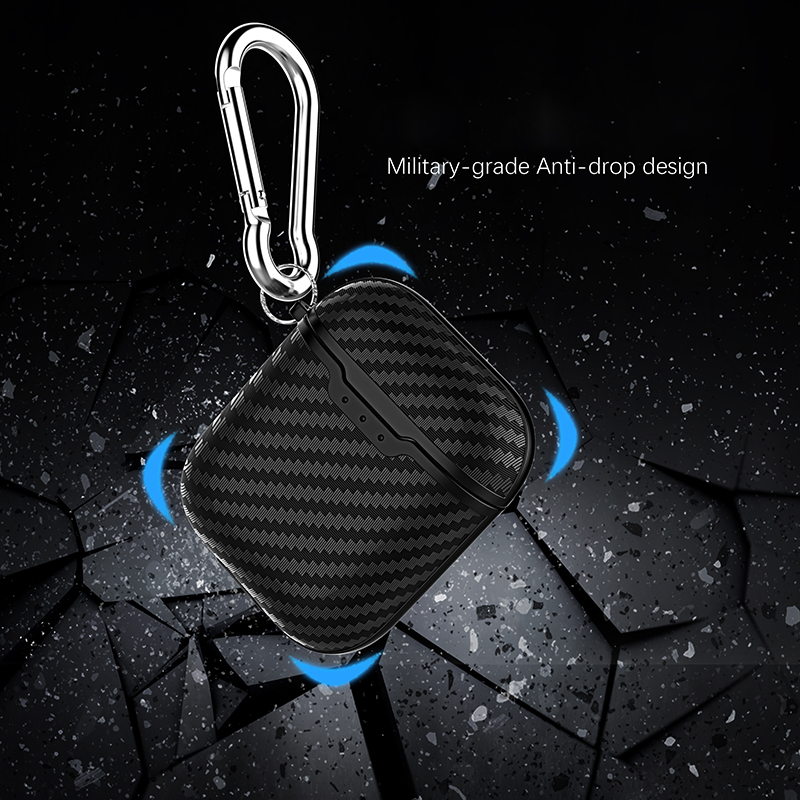 Carbon Fiber Fashion Earphone Case for Airpods Case Business Soft Full Protective Case for Airpods 2 Cover Soft Case Cover in Earphone Accessories from Consumer Electronics