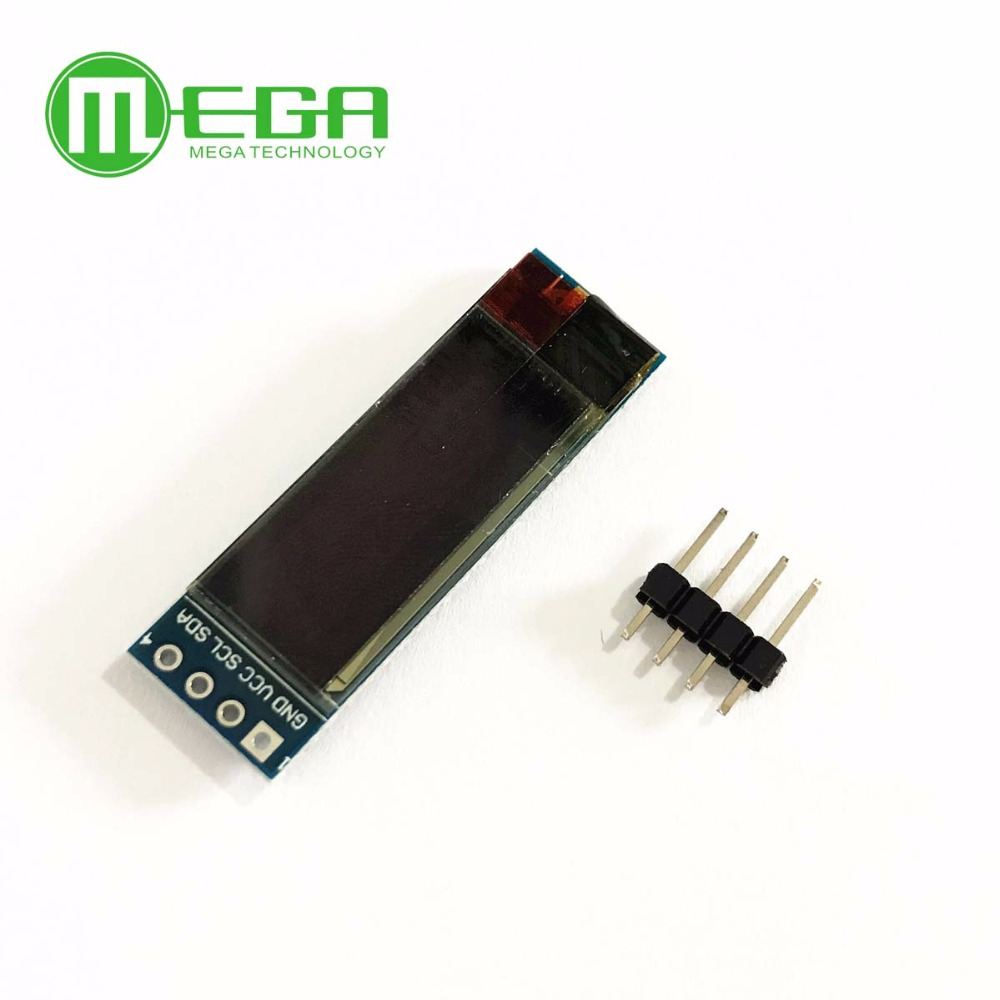 10PCS 0.91 Inch 128x32 IIC I2C Blue OLED LCD Display DIY Module SSD1306 Driver IC DC 3.3V 5V Module For Arduino PIC