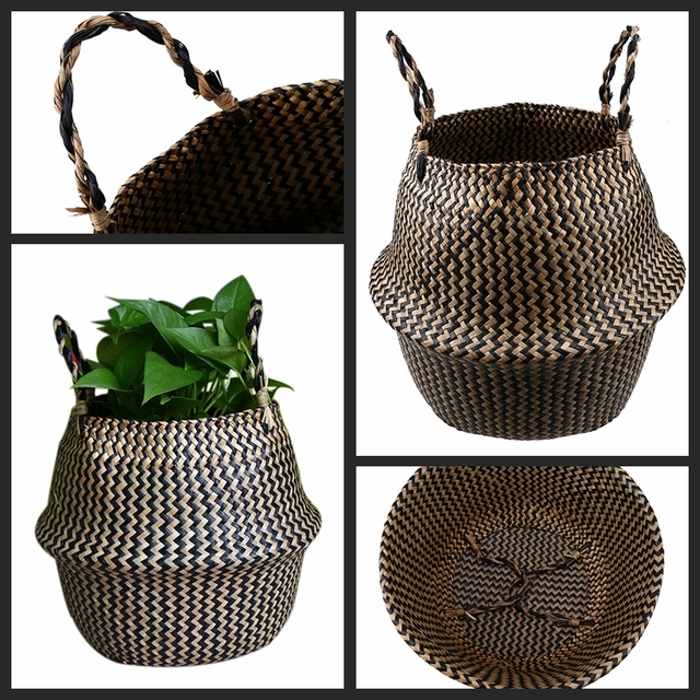 Seagrass Flower Basket
