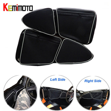 KEMiMOTO UTV Polaris RZR XP 1000 için 900 X Sol Sağ yan Kapı Çantası Diz Koruma Can-Am Komutanı 1000 için Yan Depolama çanta