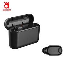 OKSJ X8 Bluetooth наушники-вкладыши истинные беспроводные наушники высокого качества звук спорт мини-гарнитура с зарядным устройством одно ухо