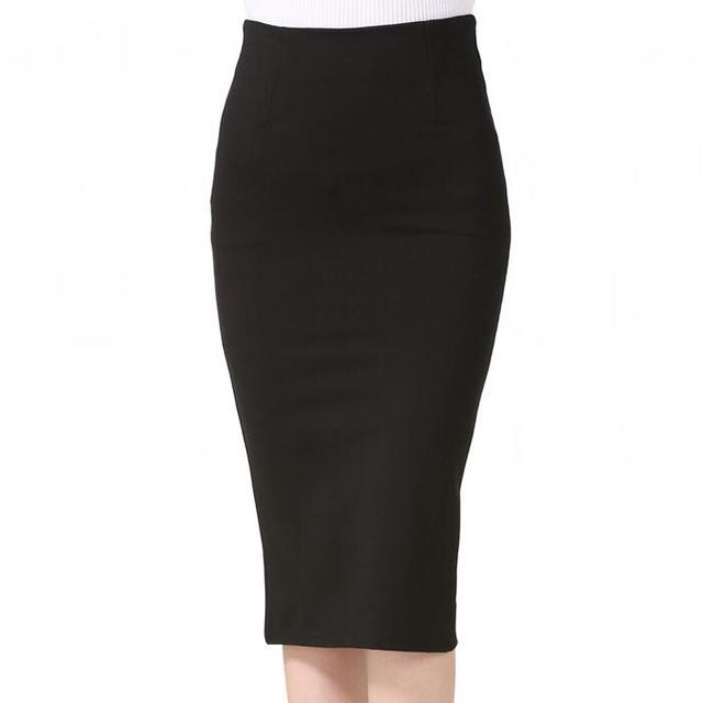 900a5cdd748cc 5XL Plus Size Women Pencil Skirts Autumn 2017 Elegant High Waist Bodycon  Skirt Korean Fashion Elastic Work Office Skirt
