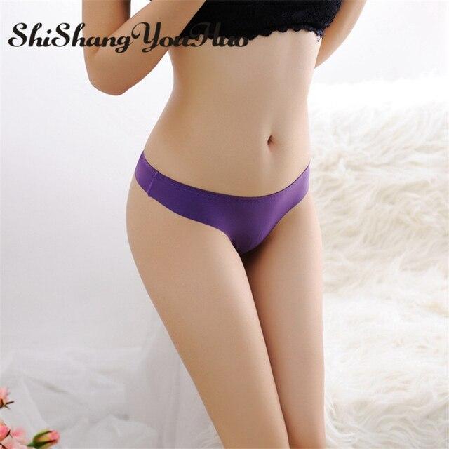 48b99bbc263 shishangyouhuo Brand G-string G String Thong Seamless Panties Briefs T Back  Ultra-thin