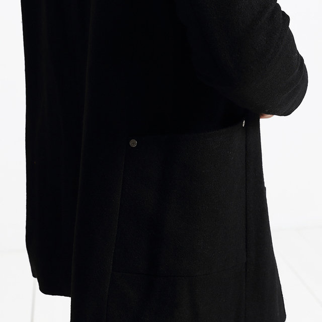 SIMWOOD New Winter Mix Wool Blends  Coats Men  trench  parkas  Fashion Warm Brand Clothing DY101