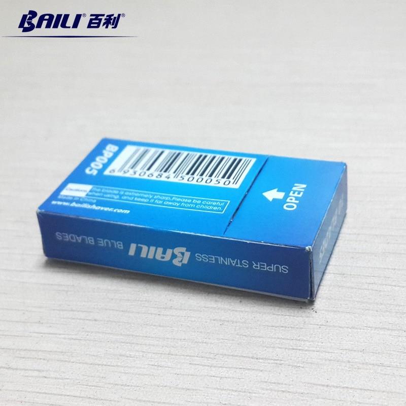 BAILI 200 Pcs/Lot Super Blue Safety Razor Blades Double Edge Shaver Beard Hair Shaving Blades for Men Face Personal Care BP005 4