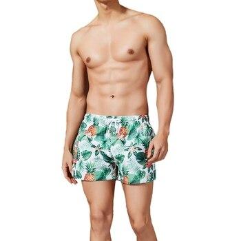 b110a2470421 Nuevo traje de baño con estampado de hongo para hombre bragas de baño Sexy  Gay traje de baño Bikini ...