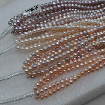 AAA high quality lots 3strands 6mm natural pearl wholesale strings