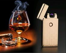 Klassische Marke Pulsed Arc leichter USB lade Winddicht Feuerzeuge Elektronische Zigarettenanzünder Männer Geschenke Lighters-JL301