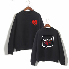 K-pop Women/Men Clothes Cotton Turtlenecks Long Sleeve Casual Sweatshirts Harajuku Tops TWICE Album What is Love Plus Size(China)