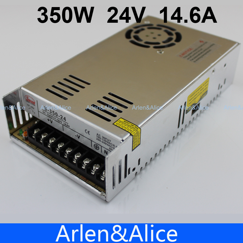 350W 24V 14.6A  Single Output Switching power supply AC TO DC meanwell 24v 350w ul certificated nes series switching power supply 85 264v ac to 24v dc