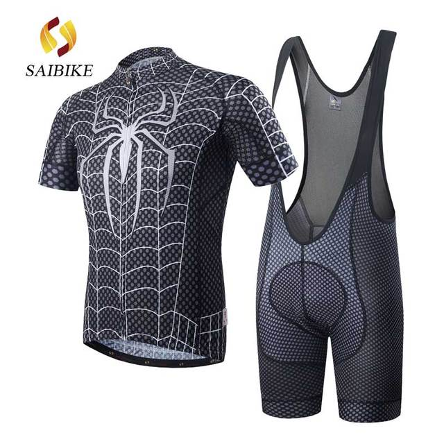 saiBike cycling Jerseys set 2018 Spiderman Men Summer short sleeve shirt Bike  bicycle clothes Ropa Ciclismo Clothing df9772408