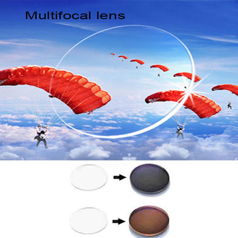 1.56 ინდექსის სტანდარტული მრავალფოკალური პროგრესული ობიექტივი სათვალე, ფოქრომიული სათვალეები მიოპიასა და პრესბიოპიის EV1202- ისთვის