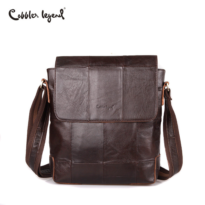 Cobbler Legend Men Bags 100% Genuine Leather Bag Men Business Classic Coffee CrossBody Shoulder Bag Designer Cow Leather Bags маленькая сумочка cobbler legend 100% femininas bm cl 10311