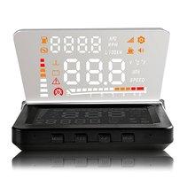 High Quality 4 Inch Car HUD Head Up Display OBD II Engine Fault Alarm Fault Code Elimination High Temperature Alarm Speed Alarm