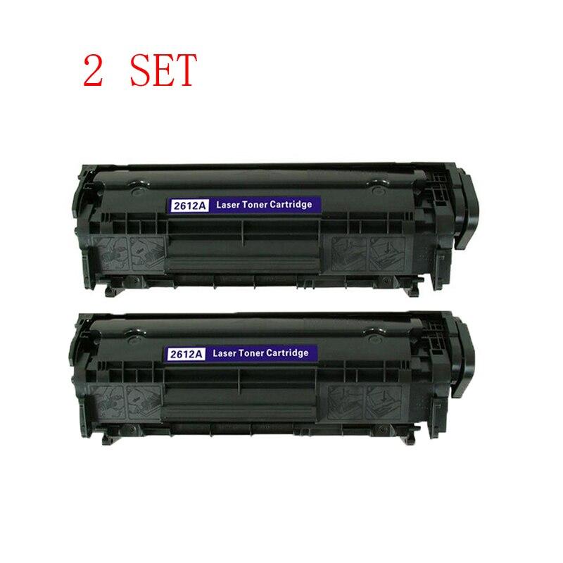 ФОТО 2Set Q2612A 12a 2612A 2612 12  Compatible toner cartridge For HP LaserJet 1010 1012 1015 1018 1020 1022 3010 3015 3020 3030 3050