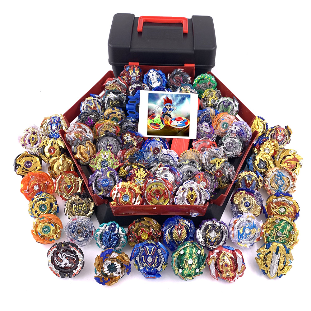 79Pcs Launchers <font><b>Beyblade</b></font> Toys All models storage box set Tops Toupie Metal God Burst Spinning Top Bey Blade Blades Toy bay blade image