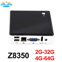 Partaker Quad Core Mini PC Windows 10 Ubuntu Intel Z8350 DDR3 RAM Desktop Compute HDMI Business